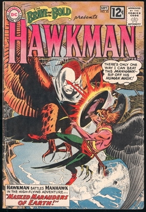 Picture of BRAVE AND THE BOLD HAWKMAN (1955) #43 4.0 VG/FN DC SILVER AGE
