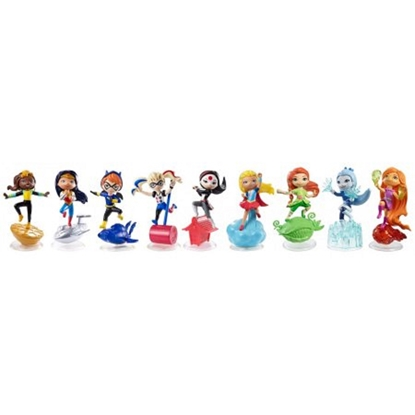Picture of DC SUPER HERO GIRLS VINYL MINI DOLLS SET OF 9 NEW IN BOX