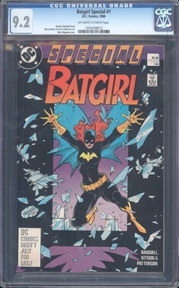Picture of BATGIRL SPECIAL (1988) #1 CGC 9.2 NM- OWW (4829)