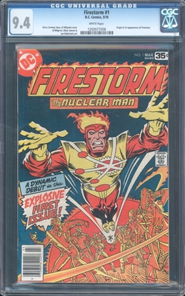 Picture of FIRESTROM (1978) #1 CGC 9.4 NM WP (3801)