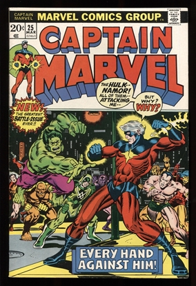 Picture of CAPTAIN MARVEL (1968) #25 7.5 VF-