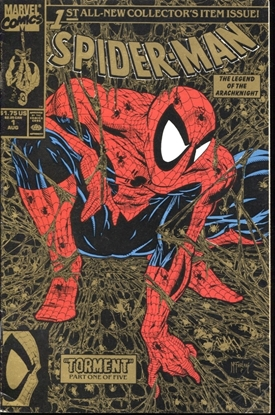 Picture of SPIDER-MAN (1990) #1 2ND PRINT GOLD CVR 4.0 VG