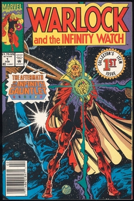 Picture of WARLOCK AND THE INFINITY WATCH (1991) #1 9.4 NM NEWSSTAND