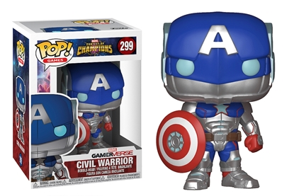 Picture of FUNKO POP GAMES CONTEST OF CHAMPIONS CIVIL WARRIOR #299 NEW VINYL FIGURE
