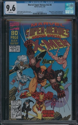 Picture of MARVEL SUPER-HEROES V2 (1991) #8 CGC 9.6 NM+ WP