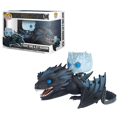 Picture of FUNKO POP RIDES GAME OF THRONES NIGHT KING & ICY VISERION #58 NIB G.I.T.D.