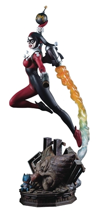 Picture of DC SUPER POWERS COLL HARLEY QUINN 19IN MAQUETTE (NET) (APR17