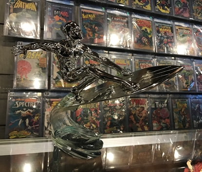 Picture of SILVER SURFER ART ASYLUM CHROME EXCLUSIVE STATUE 480/500