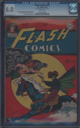 Picture of FLASH COMICS (1940) #73 CGC 6.0 FN WP