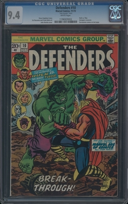Picture of DEFENDERS (1972) #10 CGC 9.4 NM WP MARK JEWELERS VARIANT