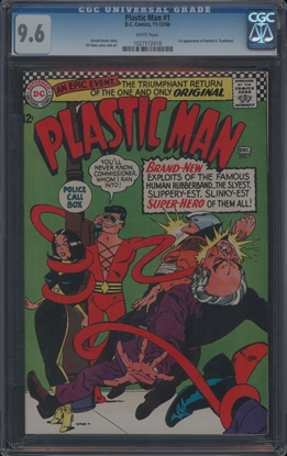 Picture of PLASTIC MAN (1966) #1 CGC 9.6 NM+ WP