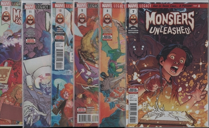 Picture of MONSTERS UNLEASHED #7-12 1ST PRINT SET NM