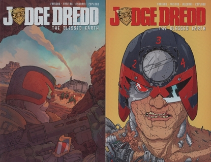 Picture of JUDGE DREDD BLESSED EARTH VOL 1 & 2 TPB SET
