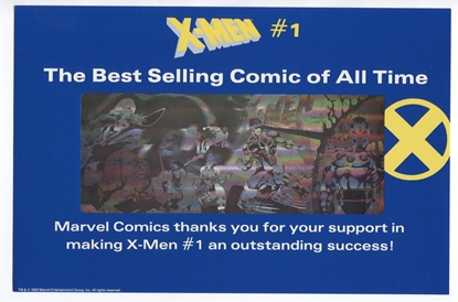 Picture of X-Men #1 Promo Silver Hologram Holographic Card Marvel 1992