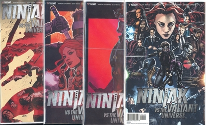 Picture of NINJAK VS VALIANT UNIVERSE #1-4 CVR A SET NM