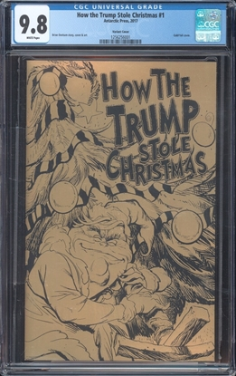 Picture of HOW THE TRUMP STOLE CHRISTMAS  GOLD FOIL CGC 9.8 NM/MT WP