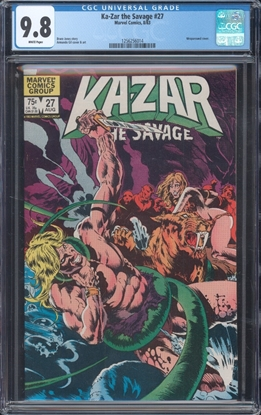 Picture of KA-ZAR THE SAVAGE (1982) #27 CGC 9.8 NM/MT WP