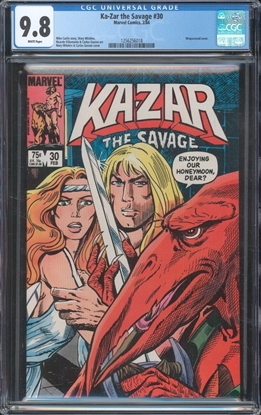 Picture of KA-ZAR THE SAVAGE (1982) #30 CGC 9.8 NM/MT WP