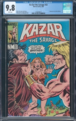 Picture of KA-ZAR THE SAVAGE (1982) #32 CGC 9.8 NM/MT WP