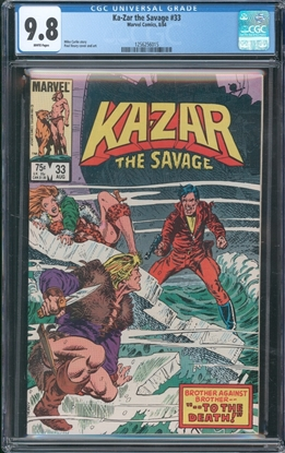 Picture of KA-ZAR THE SAVAGE (1982) #33 CGC 9.8 NM/MT WP