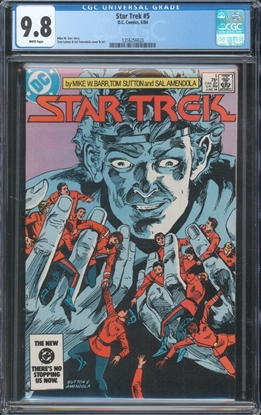 Picture of STAR TREK (1984) #5 CGC 9.8 NM/MT WP