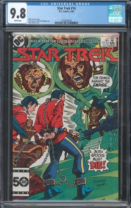 Picture of STAR TREK (1984) #14 CGC 9.8 NM/MT WP