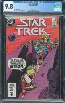 Picture of STAR TREK (1984) #26 CGC 9.8 NM/MT WP