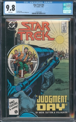 Picture of STAR TREK (1984) #32 CGC 9.8 NM/MT WP