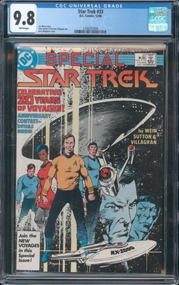 Picture of STAR TREK (1984) #33 CGC 9.8 NM/MT WP