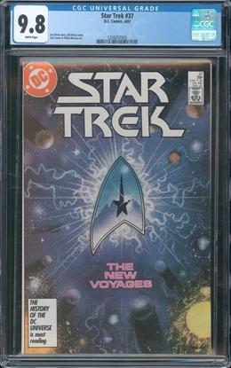 Picture of STAR TREK (1984) #37 CGC 9.8 NM/MT WP