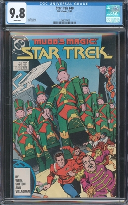 Picture of STAR TREK (1984) #40 CGC 9.8 NM/MT WP