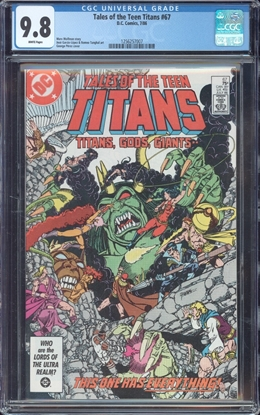 Picture of TALES OF THE TEEN TITANS (1984) #67 CGC 9.8 NM/MT WP