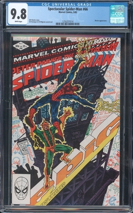 Picture of SPECTACULAR SPIDER-MAN (1976) #66 CGC 9.8 NM/MT WP