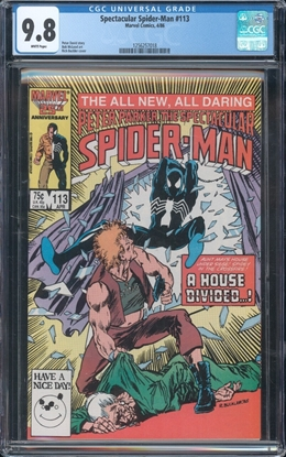 Picture of SPECTACULAR SPIDER-MAN (1976) #113 CGC 9.8 NM/MT WP