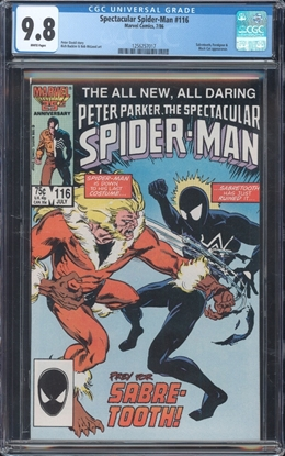 Picture of SPECTACULAR SPIDER-MAN (1976) #116 CGC 9.8 NM/MT WP