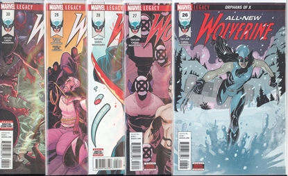 Picture of ALL NEW WOLVERINE #26-30 1ST PRINT SET