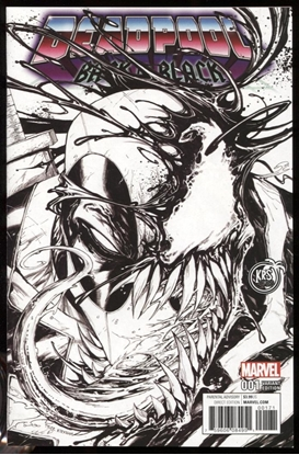 Picture of DEADPOOL BACK IN BLACK #1 KIRKMAN B&W SKETCH VARIANT COVER