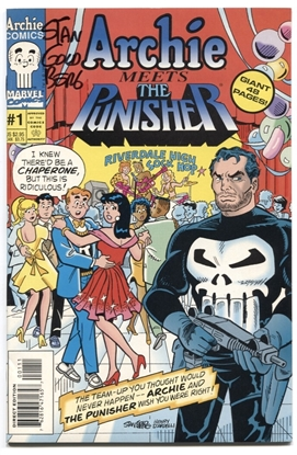 Picture of ARCHIE MEETS THE PUNISHER #1 SIGNED BY GOLDBERG 9.2 NM-