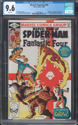 Picture of MARVEL TEAM-UP (1972) #100 9.6 NM+ WP