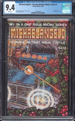 Picture of MICHAELANGELO TEENAGE MUTANT NINJA TURTLES (1986) #1 CGC 9.4 NM