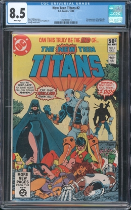 Picture of NEW TEEN TITANS (1980) #2 CGC  8.5 VF+ WP