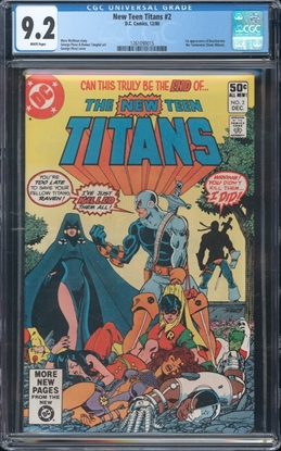 Picture of NEW TEEN TITANS (1980) #2 CGC  9.2 NM- WP