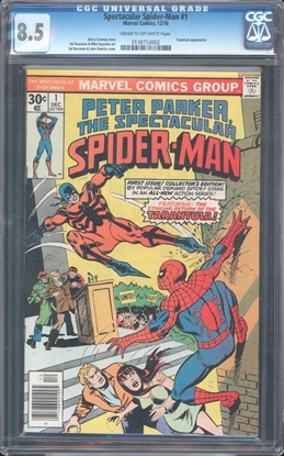 Picture of SPECTACULAR SPIDER-MAN #1 CGC 8.5 VF+ COW