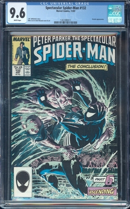 Picture of SPECTACULAR SPIDER-MAN #132 CGC 9.6 NM+ WP