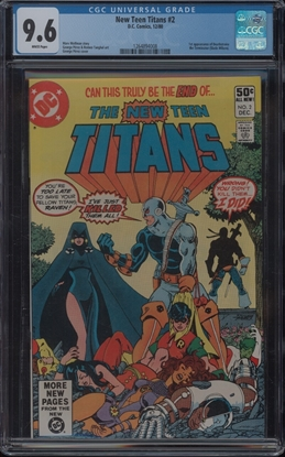Picture of NEW TEEN TITANS (1980) #2 CGC  9.6 NM+ WP