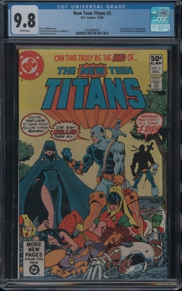 Picture of NEW TEEN TITANS (1980) #2 CGC  9.8 NM/MT WP (ID007)