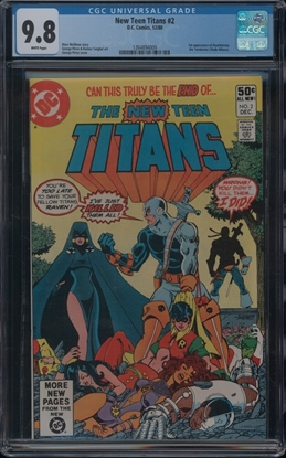 Picture of NEW TEEN TITANS (1980) #2 CGC  9.8 NM/MT WP (ID009)