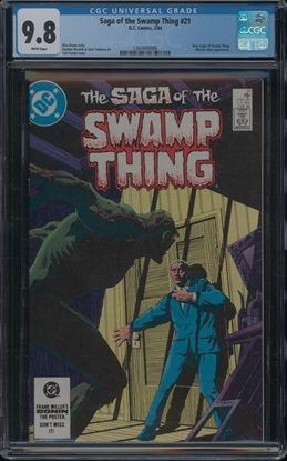 Picture of SAGA OF THE SWAMP THING (1982) #21 CGC 9.8 NM/MT WP