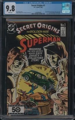 Picture of SECRET ORIGINS (1986) #1 CGC 9.8 NM/MT WP