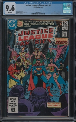 Picture of JUSTICE LEAGUE OF AMERICA (1960) #197 CGC 9.6 NM+ WP